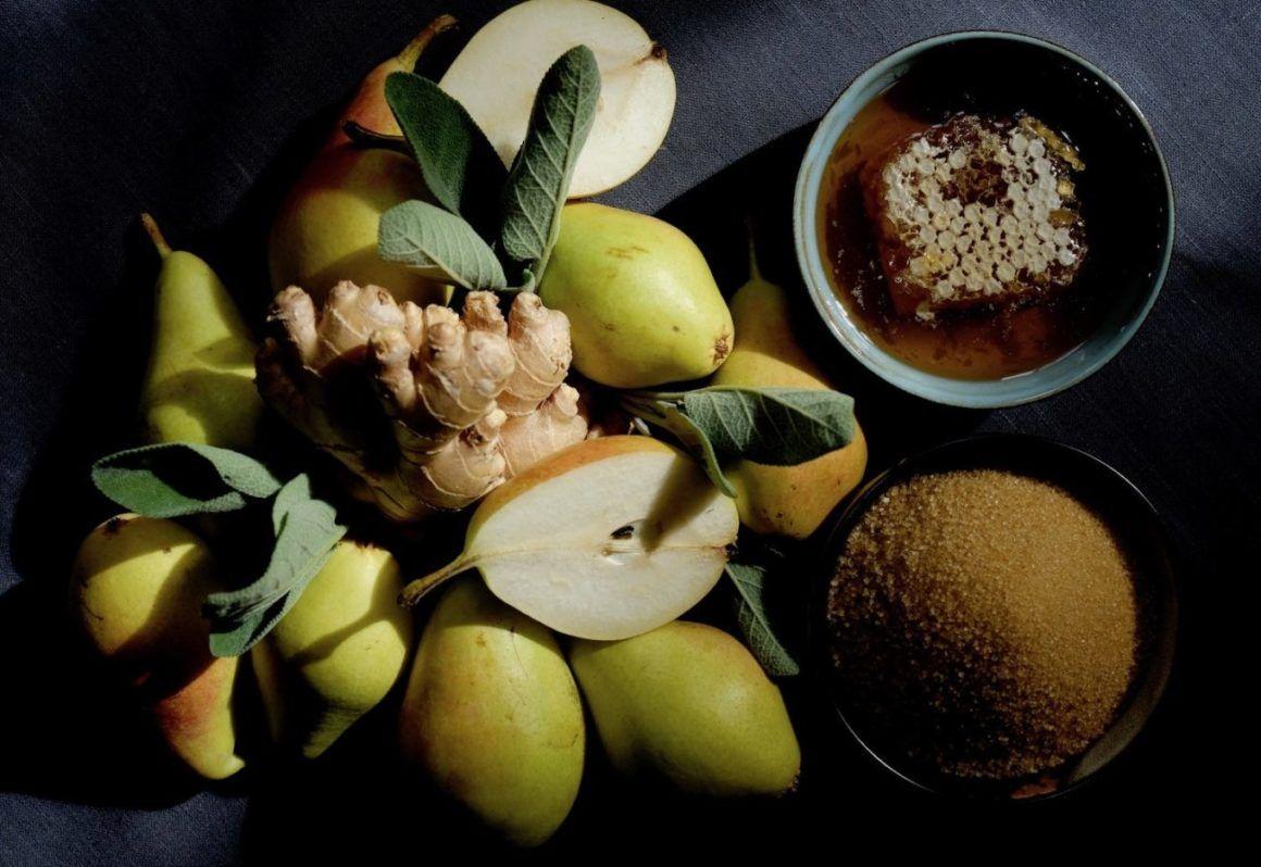 Foodblog Foodblogger About Fuel Fabian Dietrich Birnen-Ingwer-Salbei-Sirup