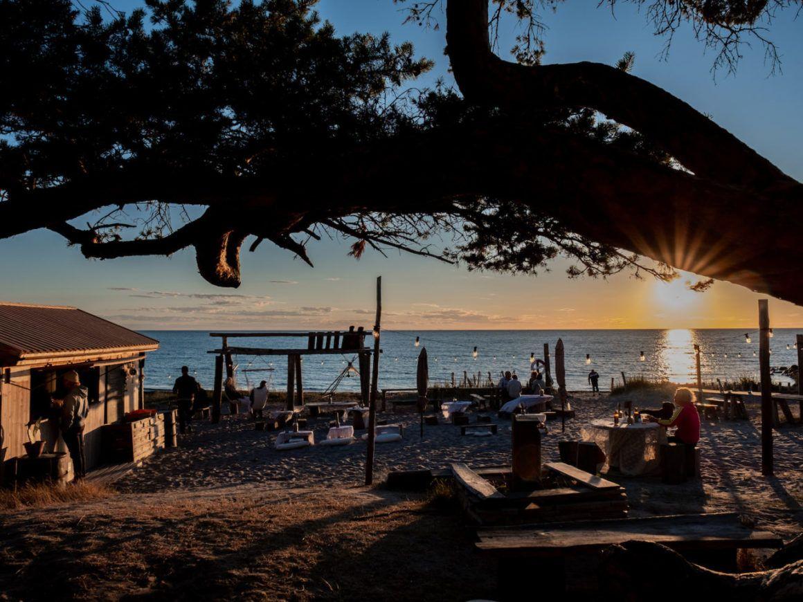 Gotland Surflogiet Schweden Sonnenuntergang Ostsee