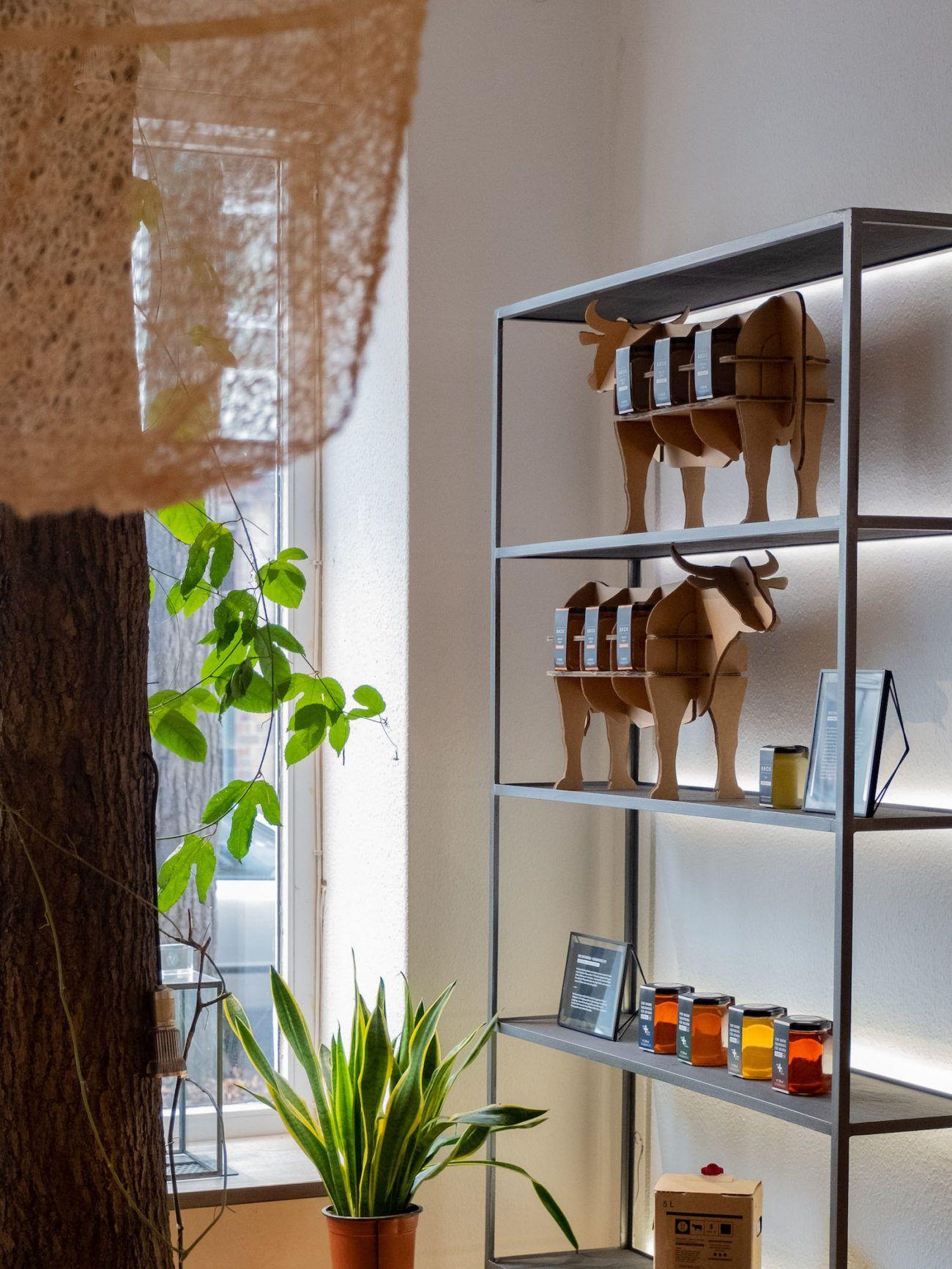 Brox Knochenbrühe, Abou Fuel, Brühe, Showroom, Pflanzen, Berlin