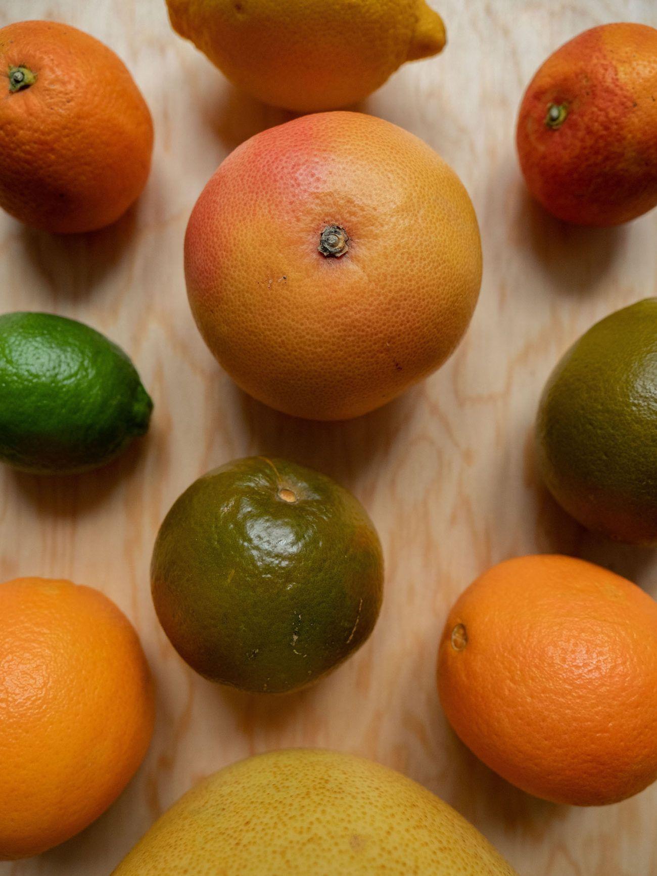 Rezept_Zitrussalat mit Avocado und Pistaziendressing, Grapefruit, Orange, Limette, Pomelo