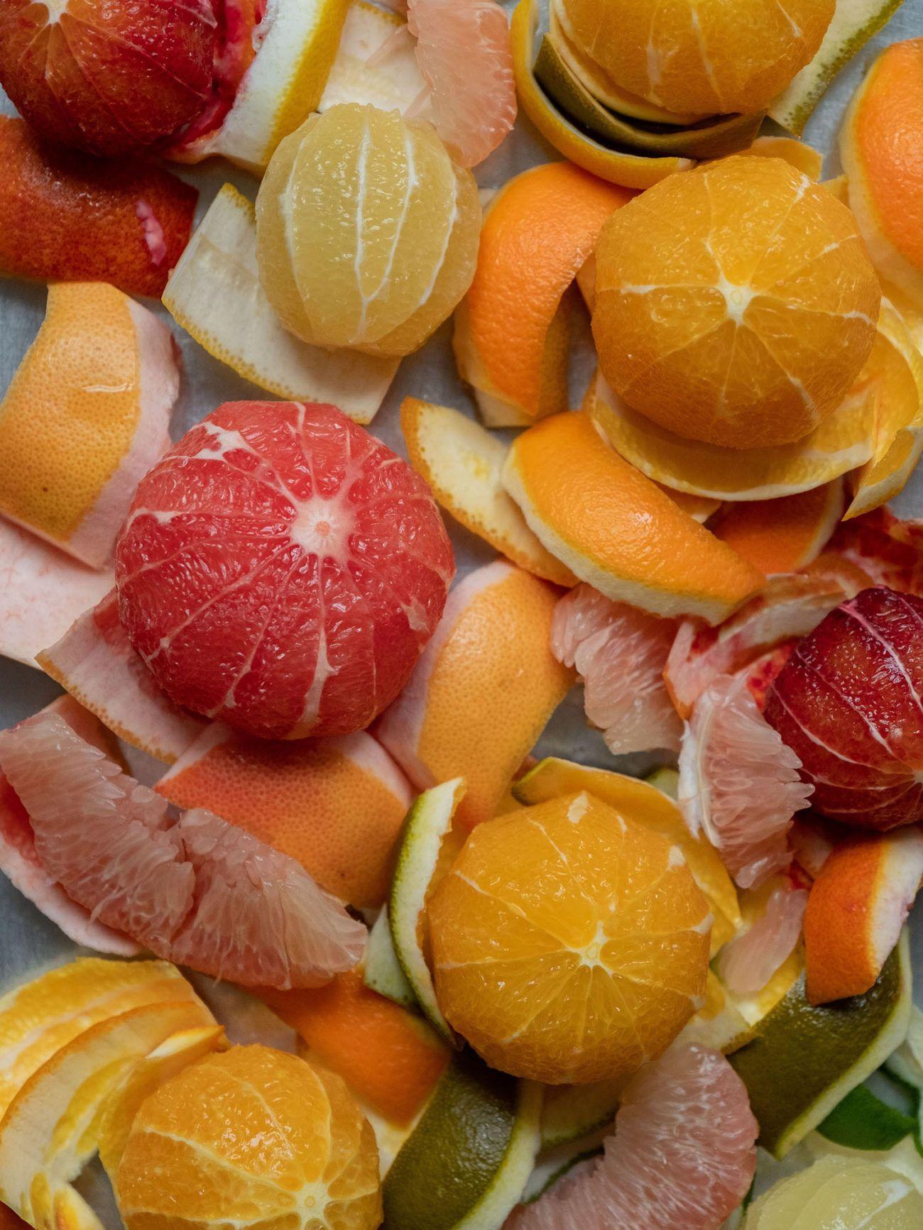 Rezept_Zitrussalat mit Avocado und Pistaziendressing, Orangen, Blutorangen, Zitronen, Pomelo