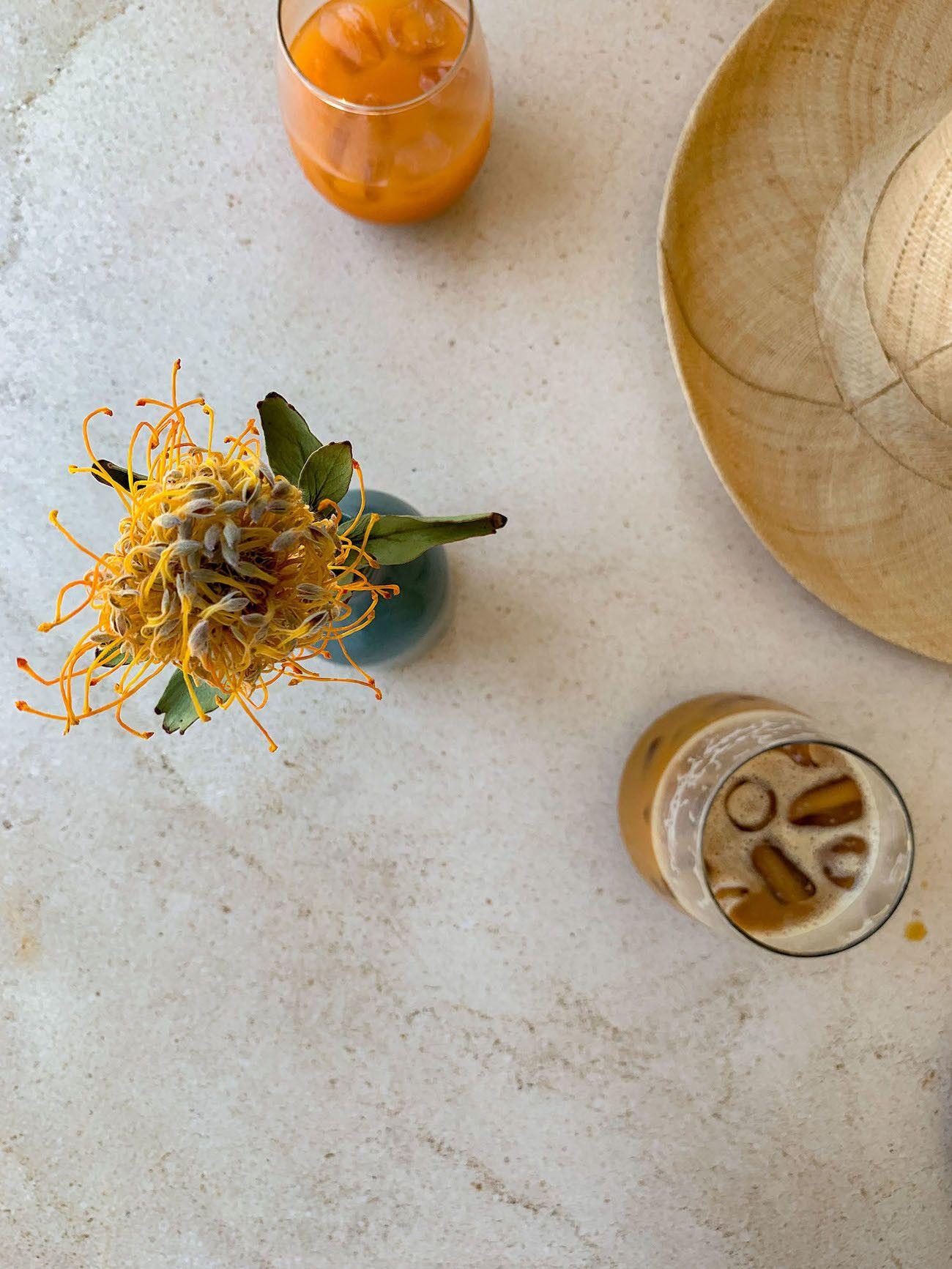 Frühstücks - und Brunch Guide für Kapstadt, Harvest Cafe, Coffee, Saft, Hut