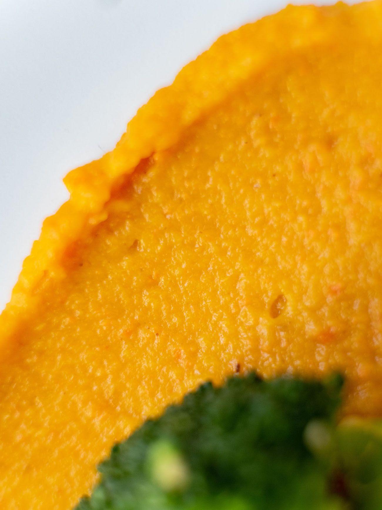 Foodblog, Rezept Kürbis Curry Püree mit zitronen Brokkoli und schwarzem Reis, Close Up, Vegan_1