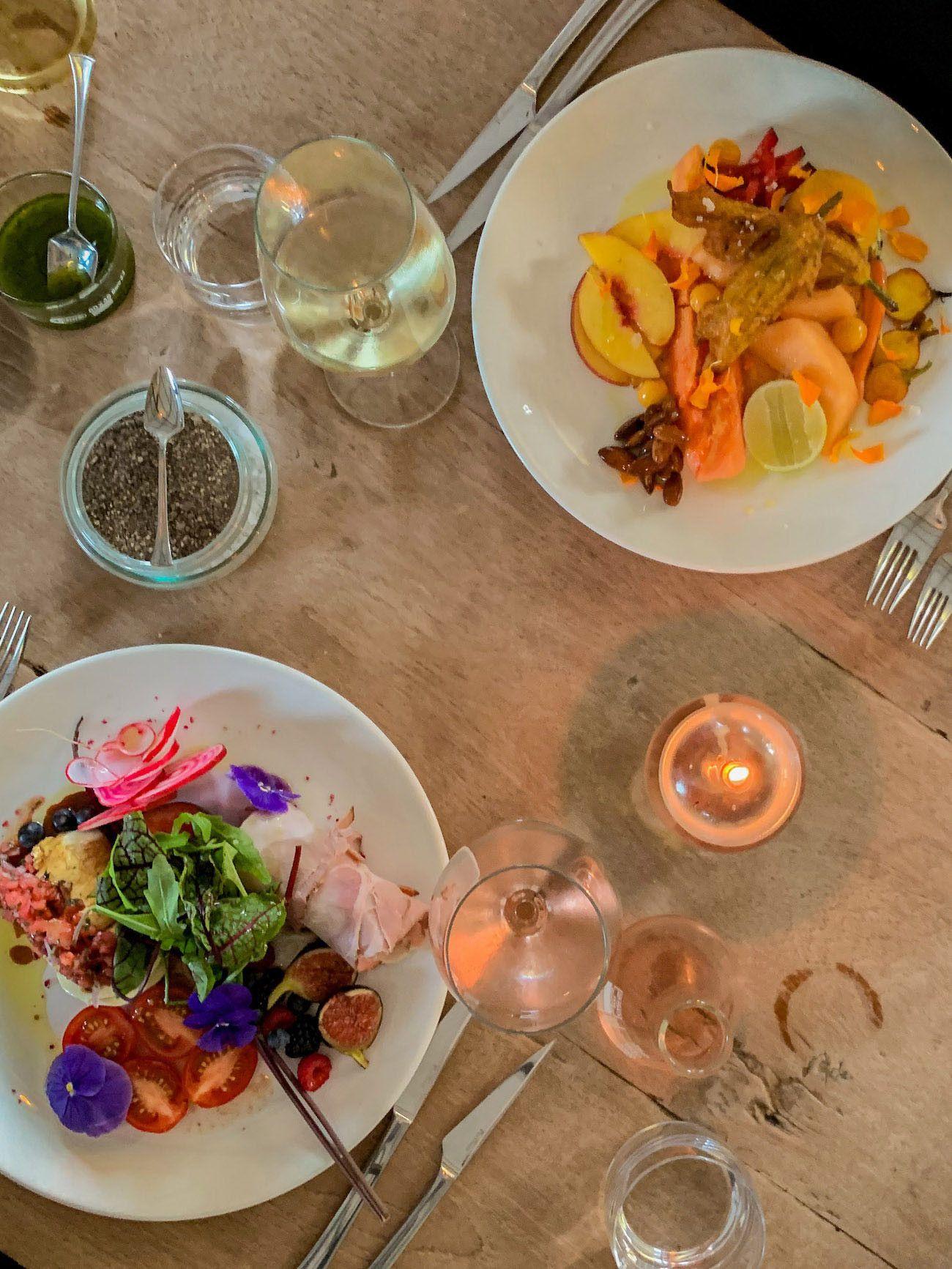 Weinguide Stellenbosch, Babylonstoren, Dinner, Babel, Vorspeisen