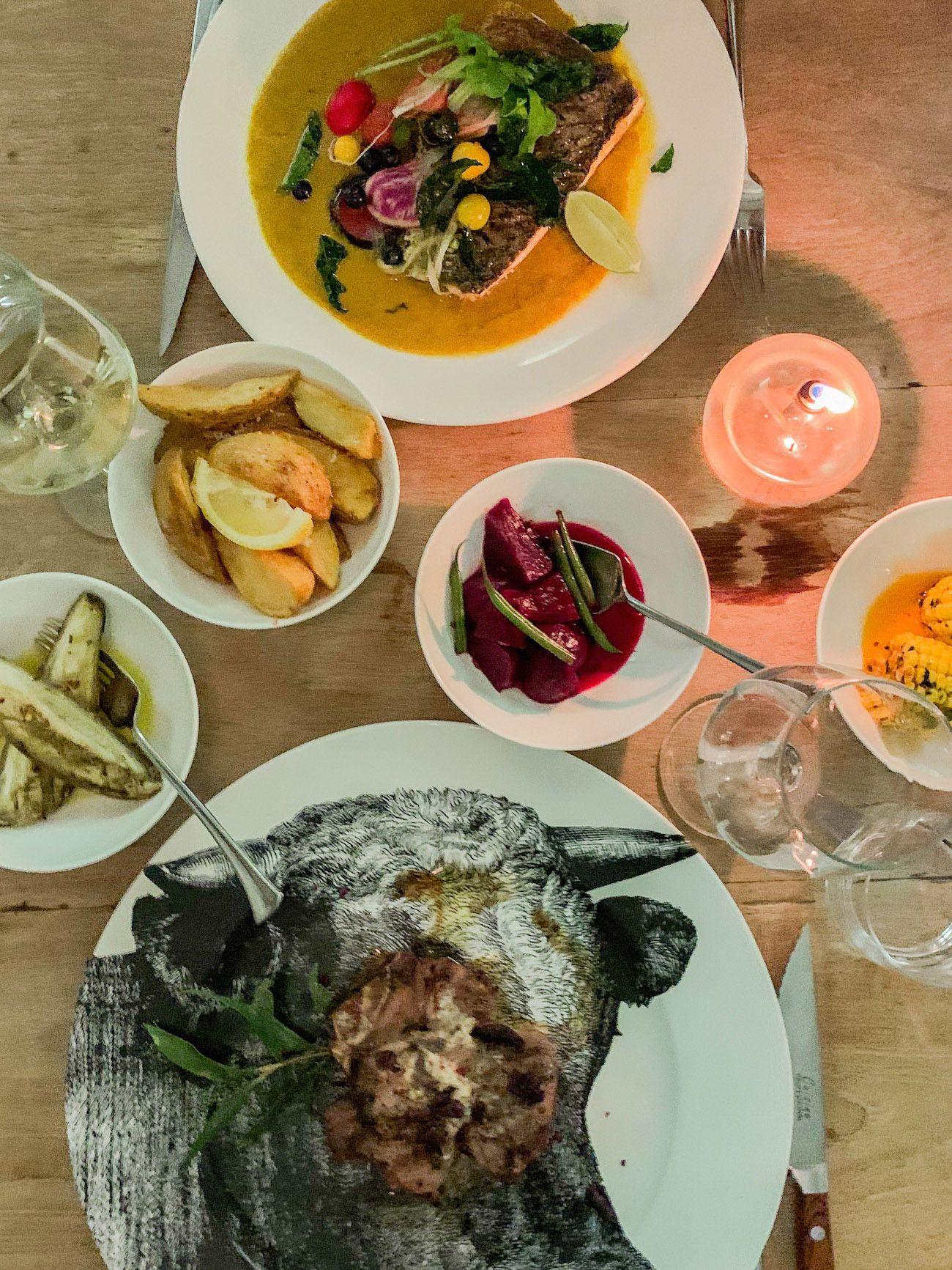 Weinguide Stellenbosch, Babylonstoren, Dinner, Steak, Fisch, Kartoffeln
