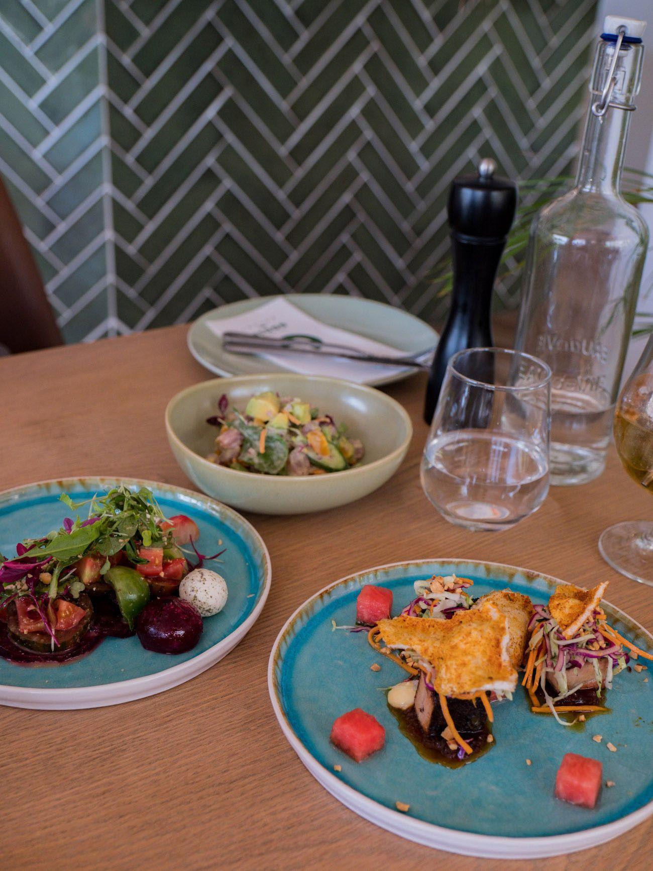 Weinguide Stellenbosch, The Green Goose Eatery, Essen, Wassermelone, Schweinebauch, Rote Beete