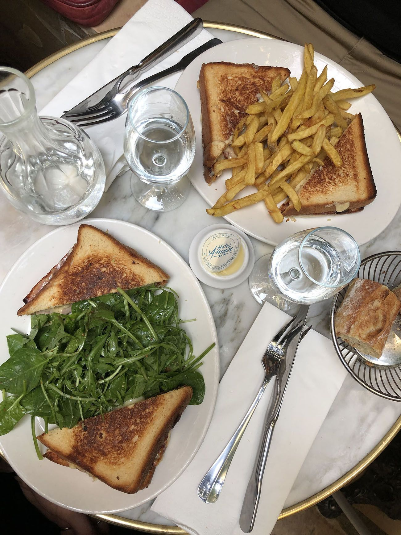 Foodblog About Fuel, Paris, Hotel Amour, Salat, Pommes, Croque Monsieur
