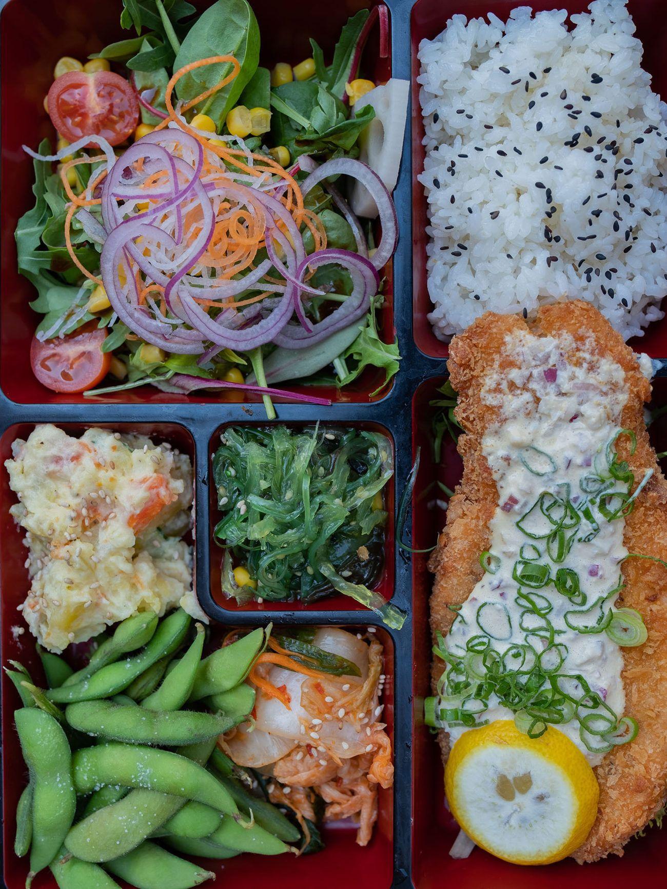 Foodblog About Fuel, Restaurant CHOTTO Berlin, Bento Box, Lachs