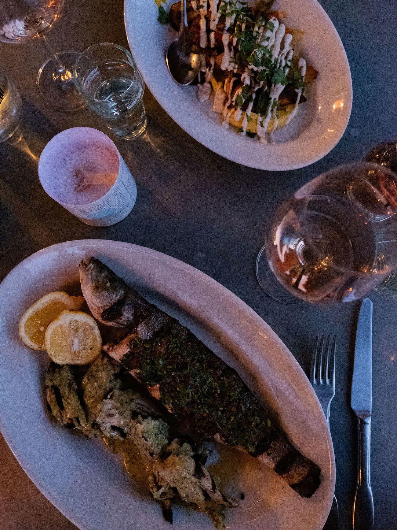 Foodblog About Fuel, Bikini Island & Mountain Hotels, Fisch, Dinner, Neni