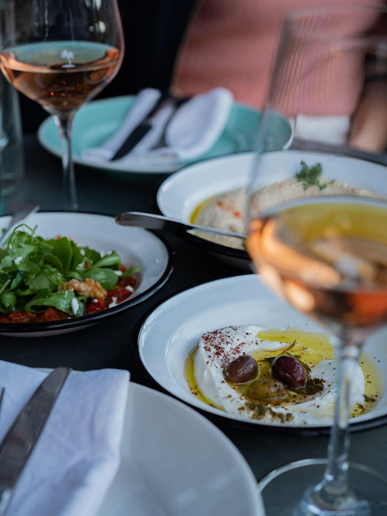 Foodblog About Fuel, Bikini Island & Mountain Hotels, Mezze, Labneh, Sakuska, Hummus