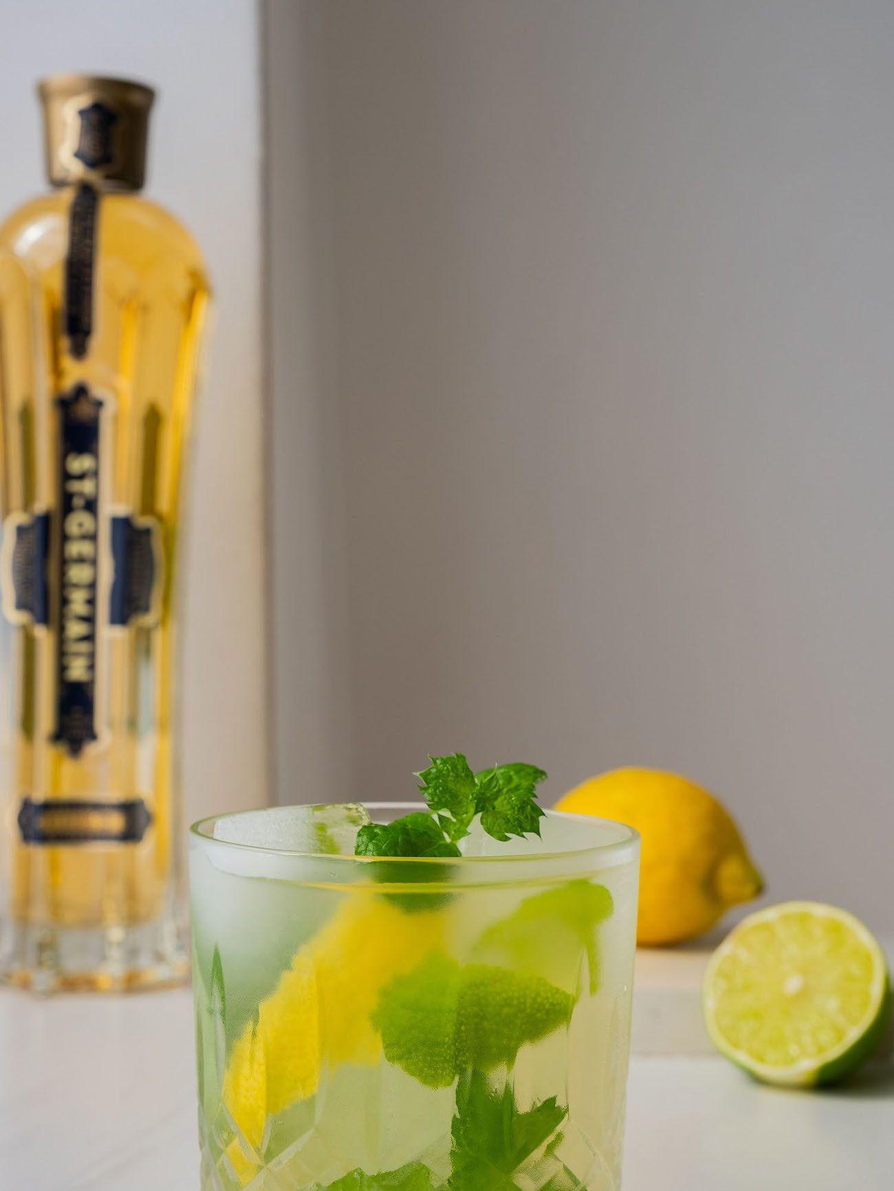 Foodblog About Fuel, Rezept Power Hugo, Saint Germain, Drink, Limette, Zitrone