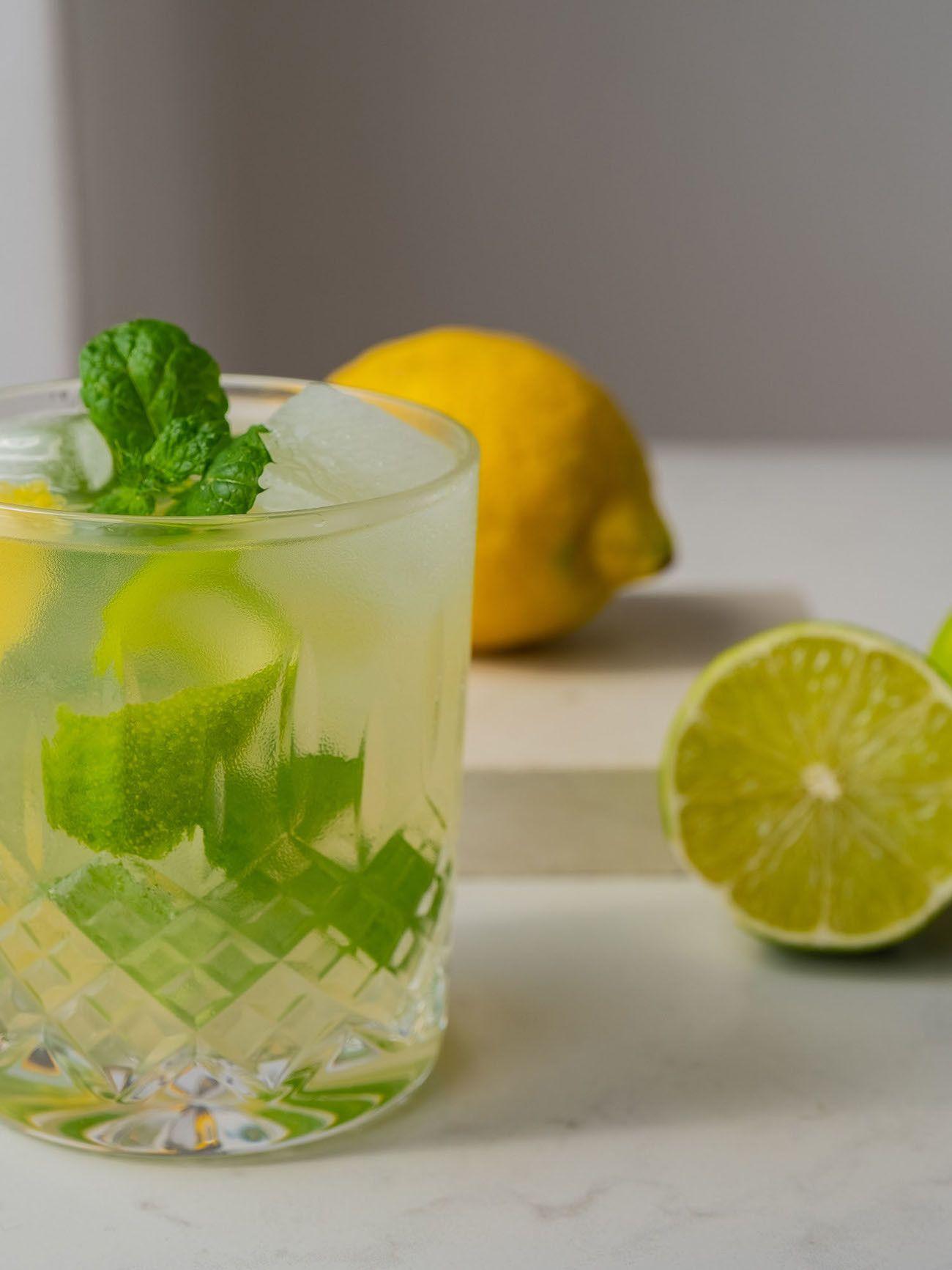 Foodblog About Fuel, Rezept Power Hugo, Saint Germain, Drink, Minze