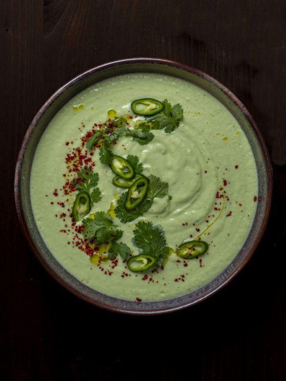 About Fuel, Foodblog, Avocado Gazpacho mit Hoghurt und Jalapeños, Teller