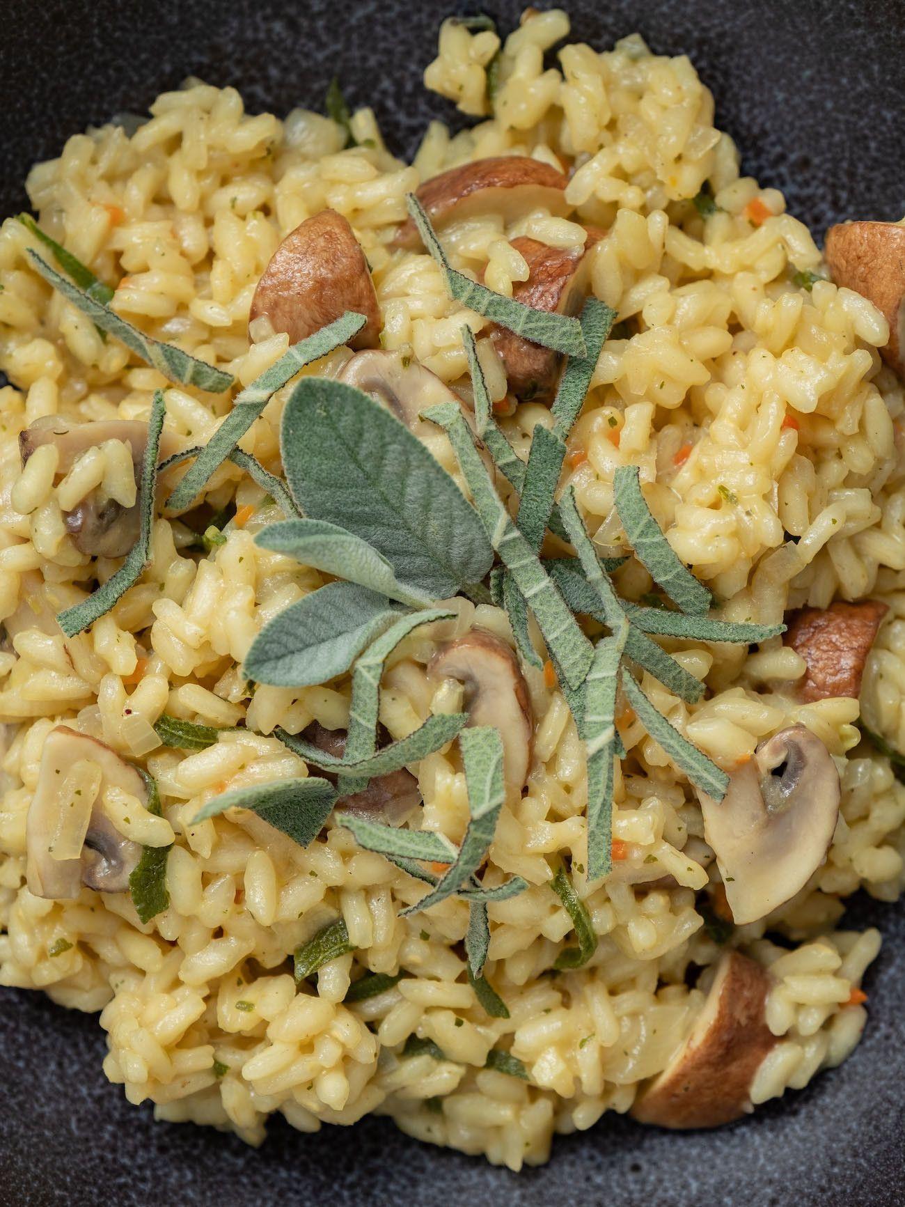 About Fuel, Foodblog, Rezept Champignon Risotto mit Salbei, Vegetarisch, Reis