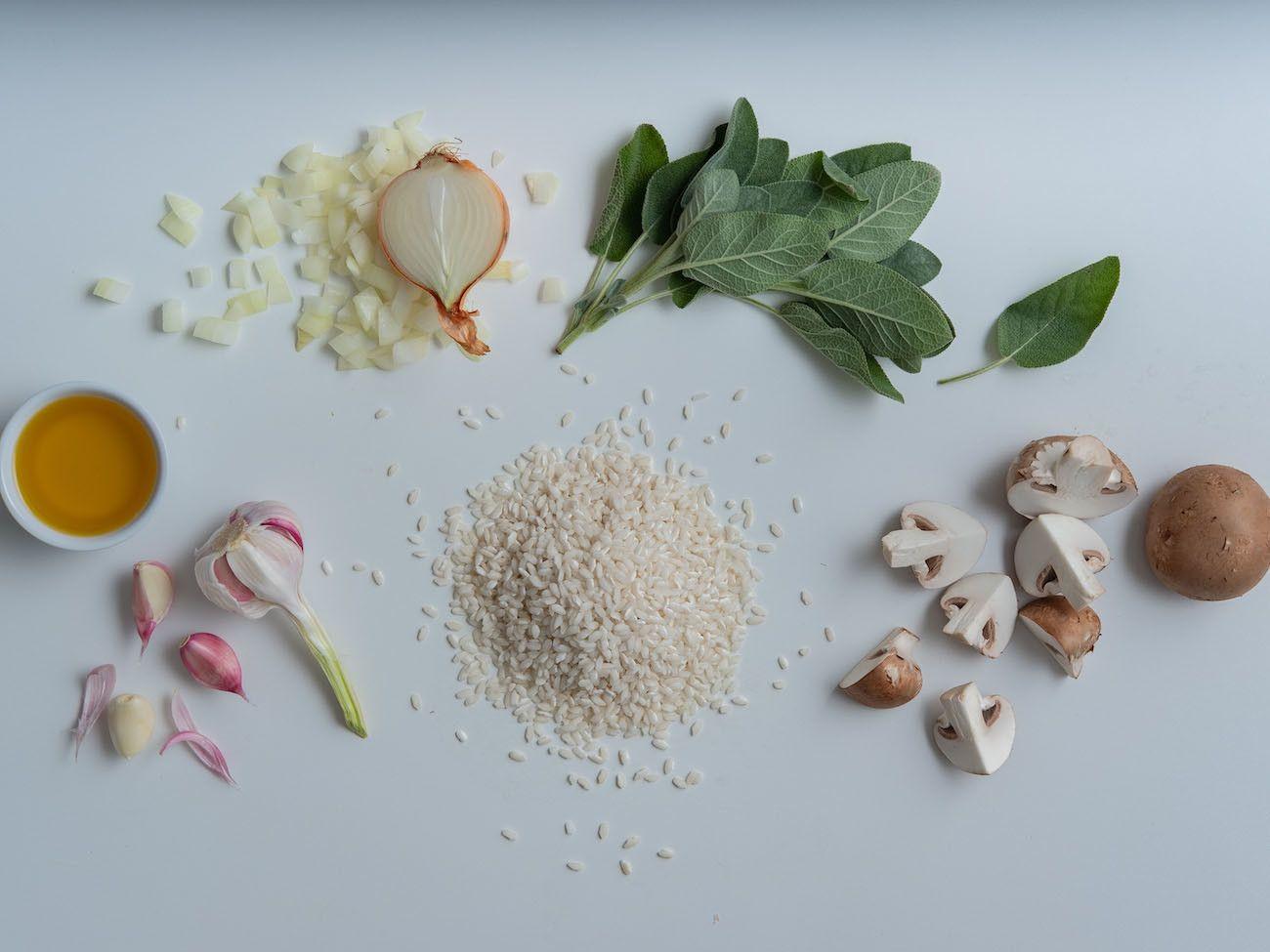 About Fuel, Foodblog, Rezept Champignon Risotto mit Salbei, Zutaten