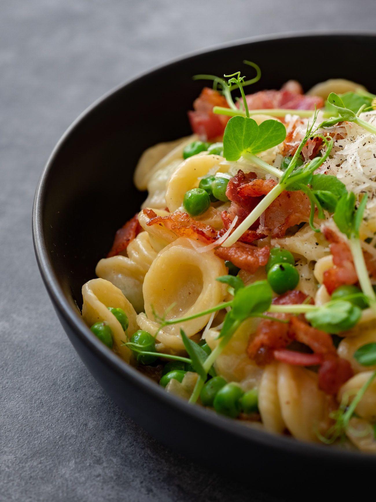 About Fuel, Foodblog, Rezept, Orecchiette mit Erbsen und Speck, Pasta