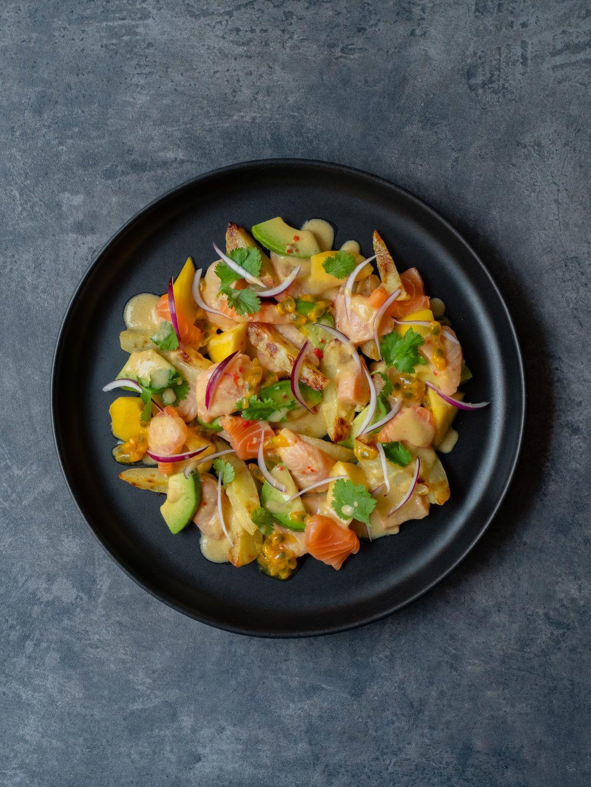 Foodblog, About Fuel, CEVICHE Das Kochbuch, Juan Danilo, Mango, Teller, Kartoffeln