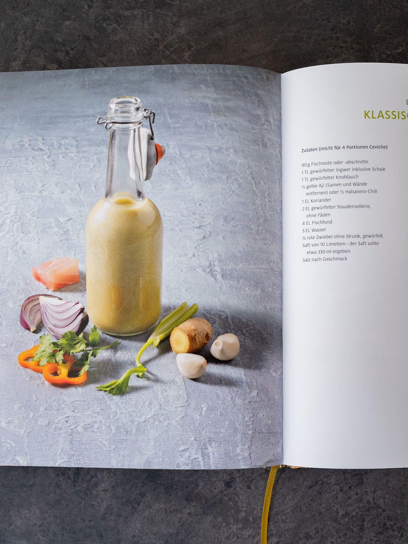 Foodblog, About Fuel, CEVICHE Das Kochbuch, Juan Danilo, Tigermilch, Ingwer, Knoblauch, Koriander