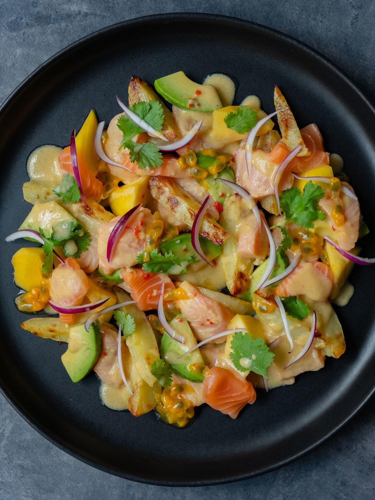 Foodblog, About Fuel, CEVICHE Das Kochbuch, Juan Danilo, rote Zwiebeln, Mango, Maracuja, Koriander