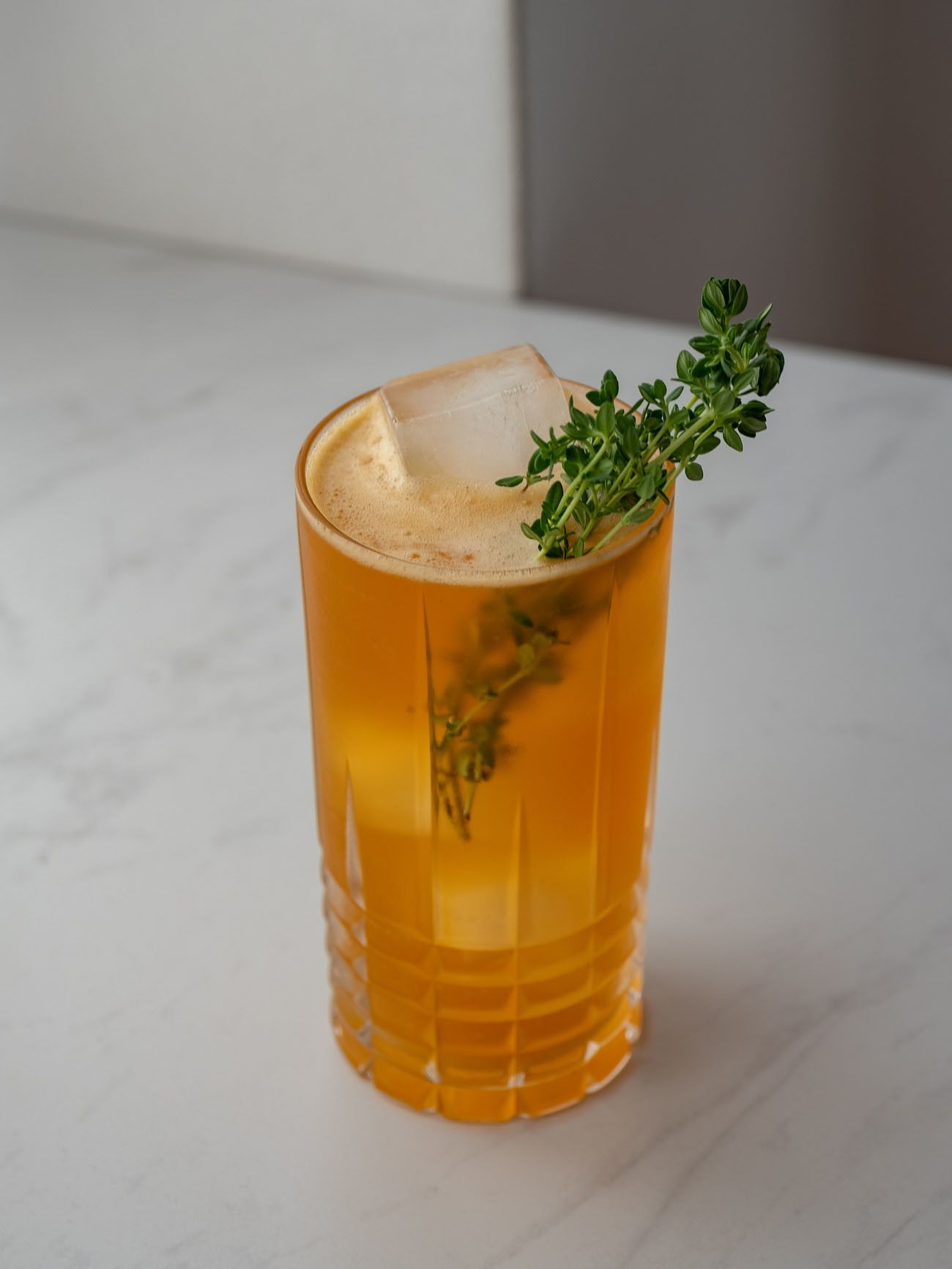 Foodblog, About Fuel, Cocktail, Roe & Co Quitten Fizz, Zitronenthymian
