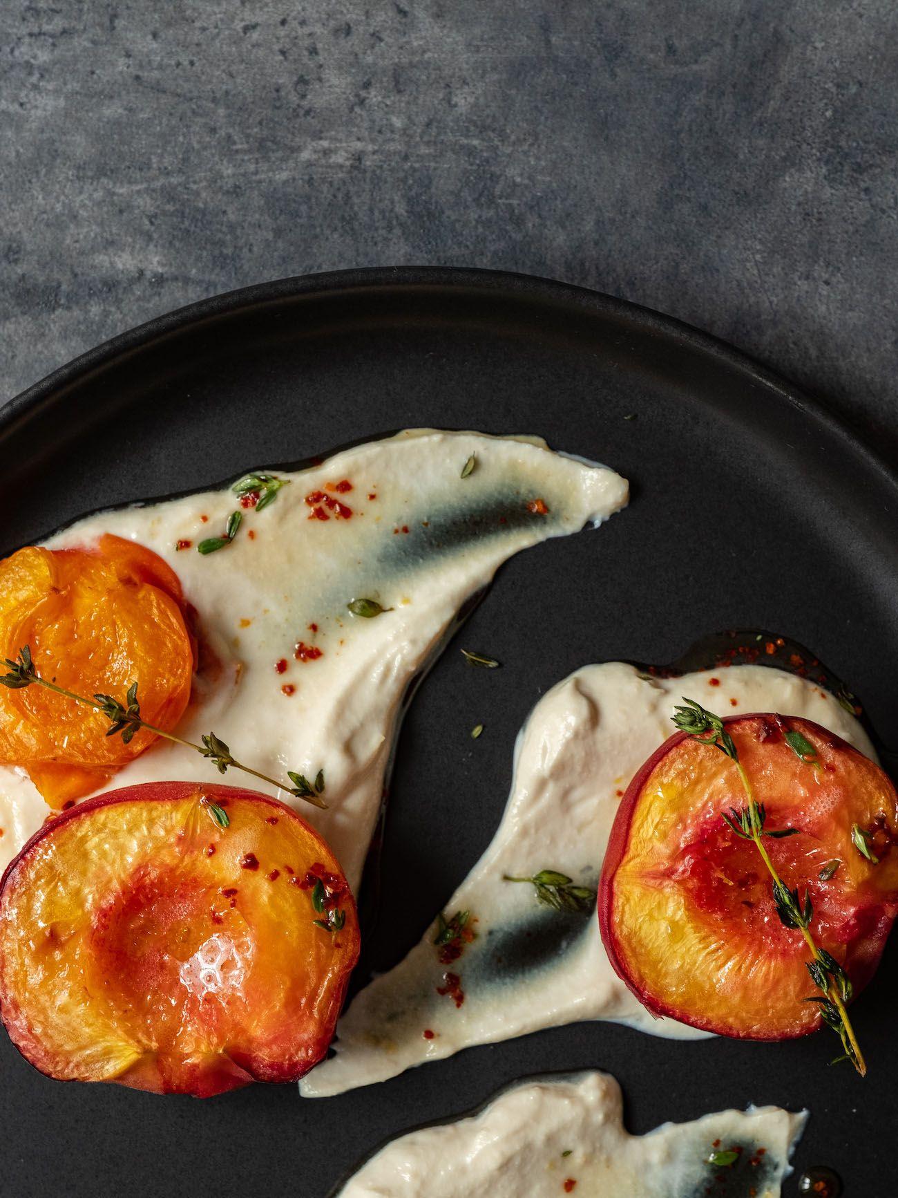 About Fuel, Foodblog, Rezept, Gebackene Pfirsiche und Aprikosen, Chili, Ahornsirup, Ricotta