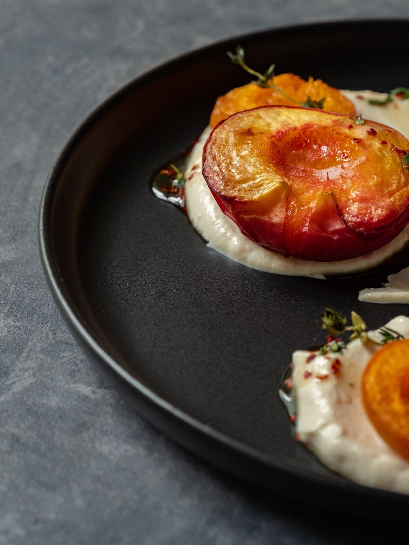 About Fuel, Foodblog, Rezept, Gebackene Pfirsiche und Aprikosen, Ricotta, Ahornsirup, Chili