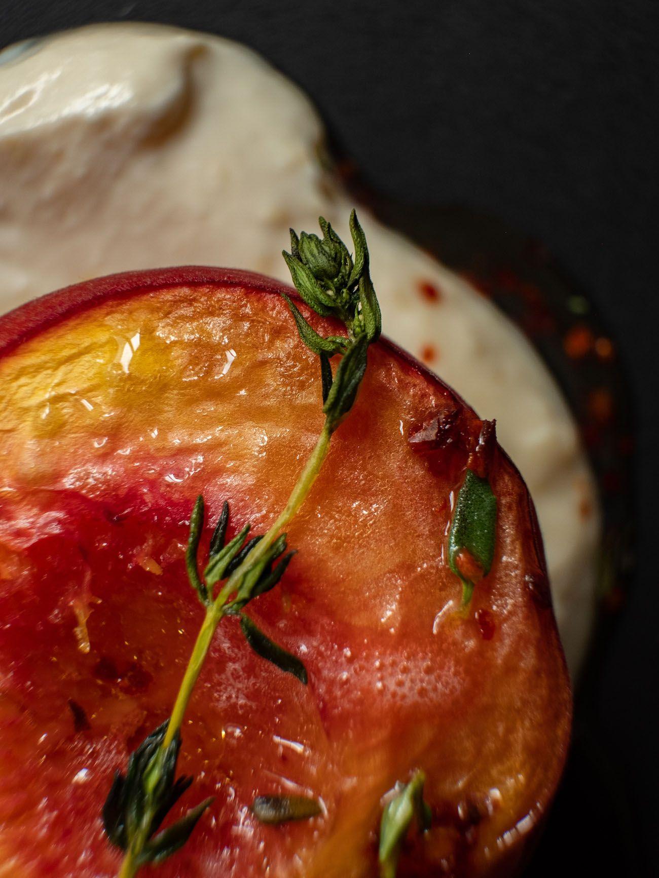 About Fuel, Foodblog, Rezept, Gebackene Pfirsiche und Aprikosen, Thymian, Ricotta
