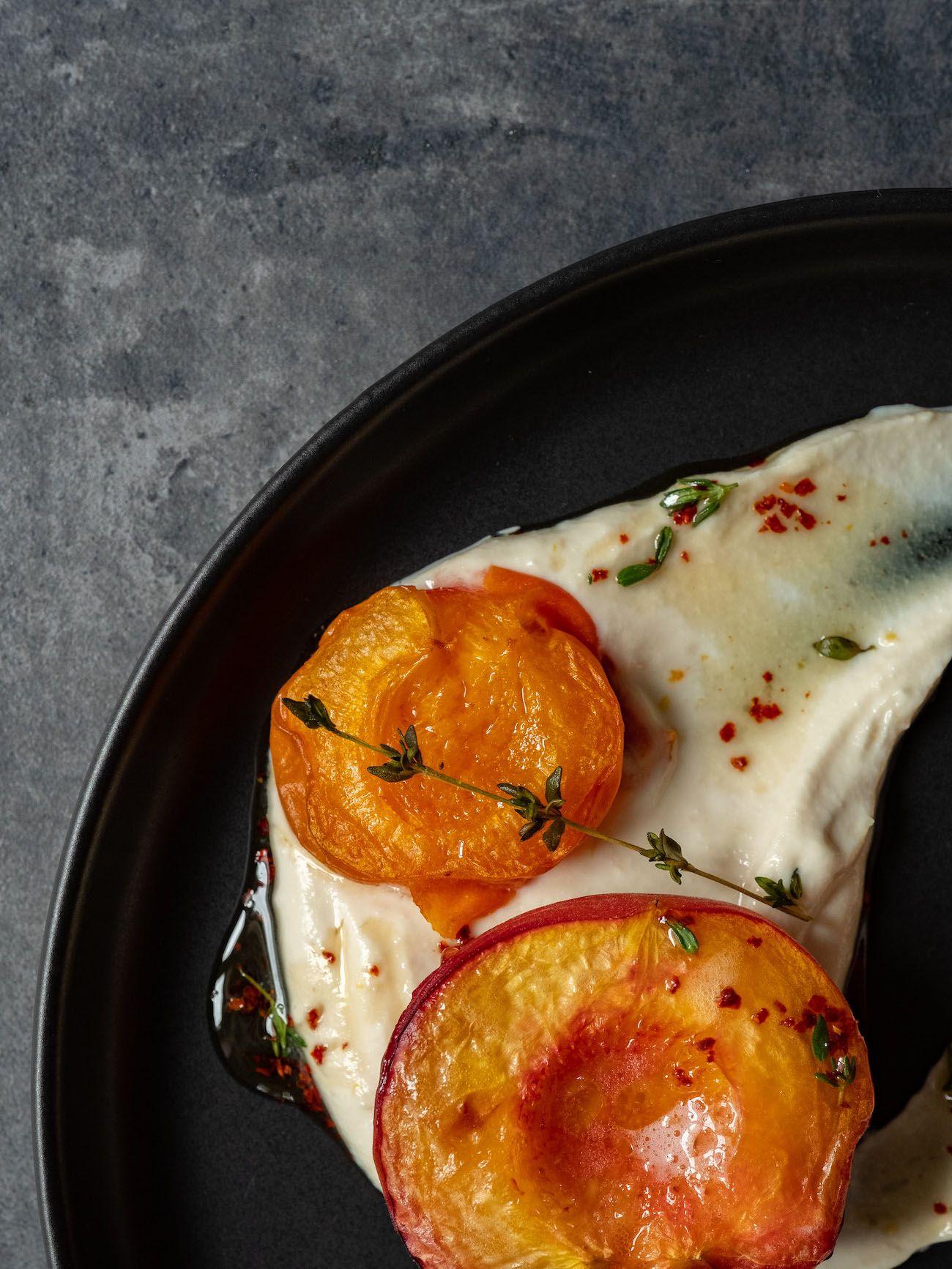 About Fuel, Foodblog, Rezept, Gebackene Pfirsiche und Aprikosen, Zitronen Ricotta, Ahornsirup