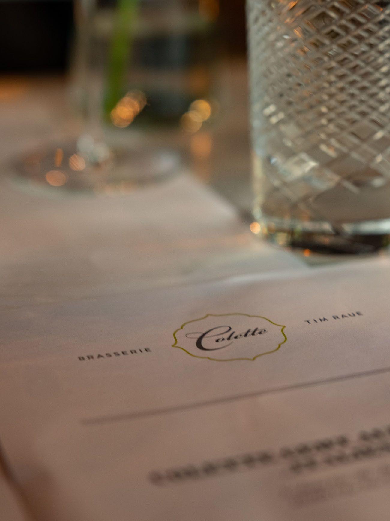 Foodblog, About Fuel, Brasserie Colette Tim Raue, Glas, Menü