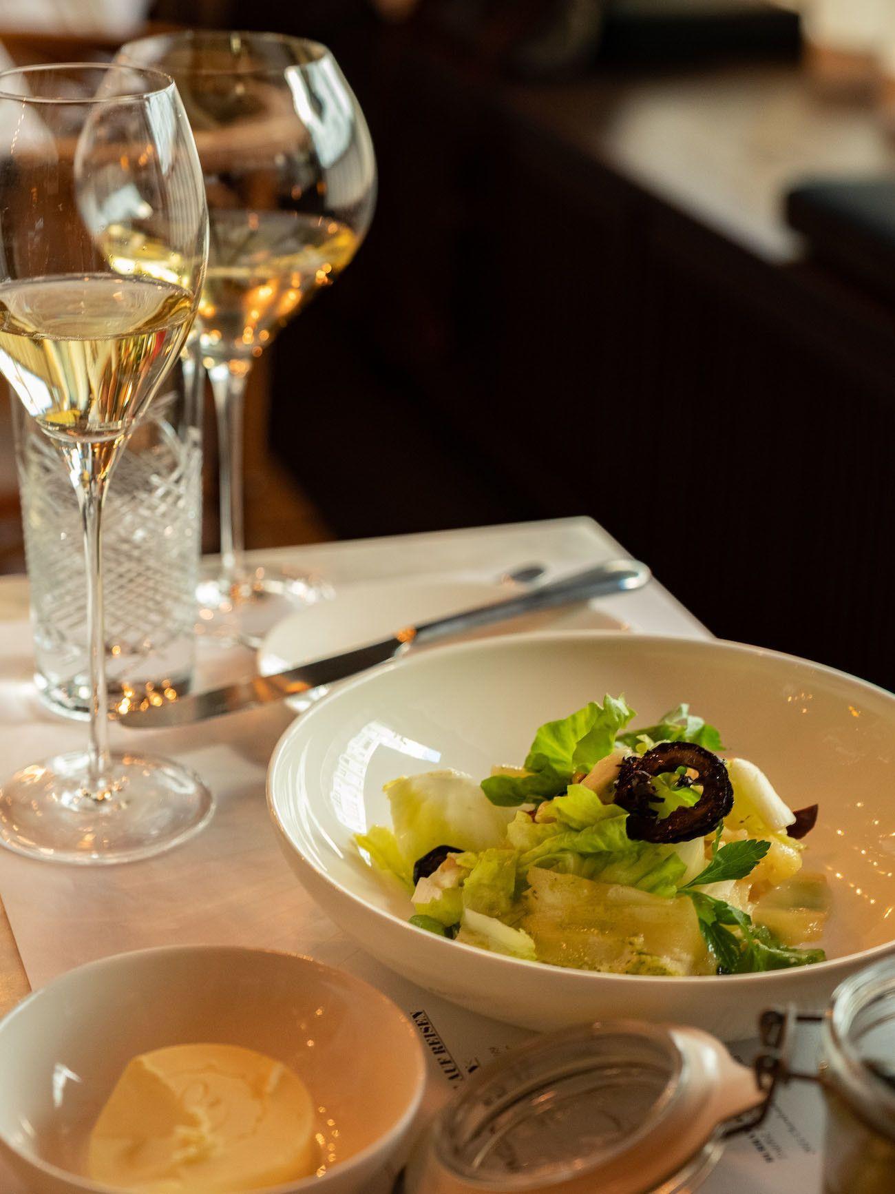 Foodblog, About Fuel, Brasserie Colette Tim Raue, Salat, Wein