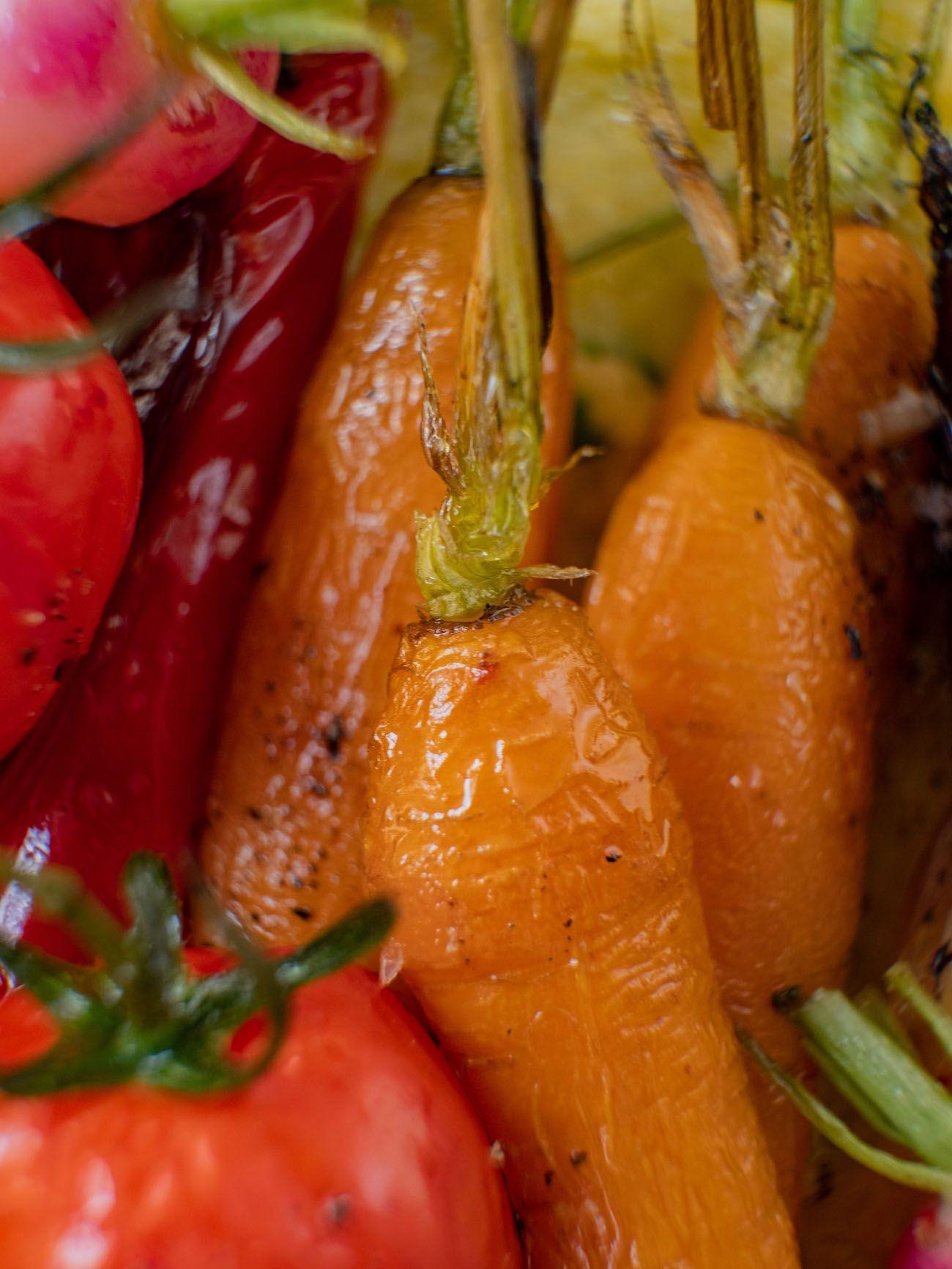Rezept, Foodblo, About Fuel, Cremige Polenta mit Sommergemüse, Karotten