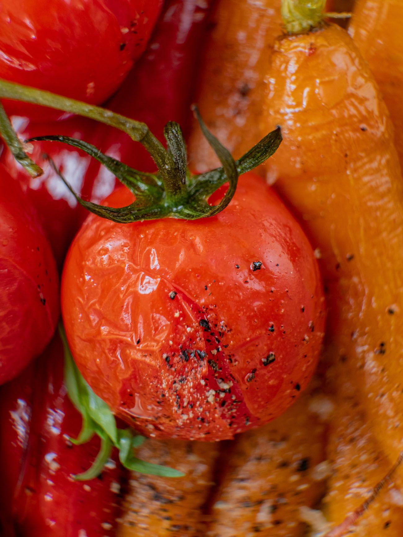 Rezept, Foodblo, About Fuel, Cremige Polenta mit Sommergemüse, Tomaten