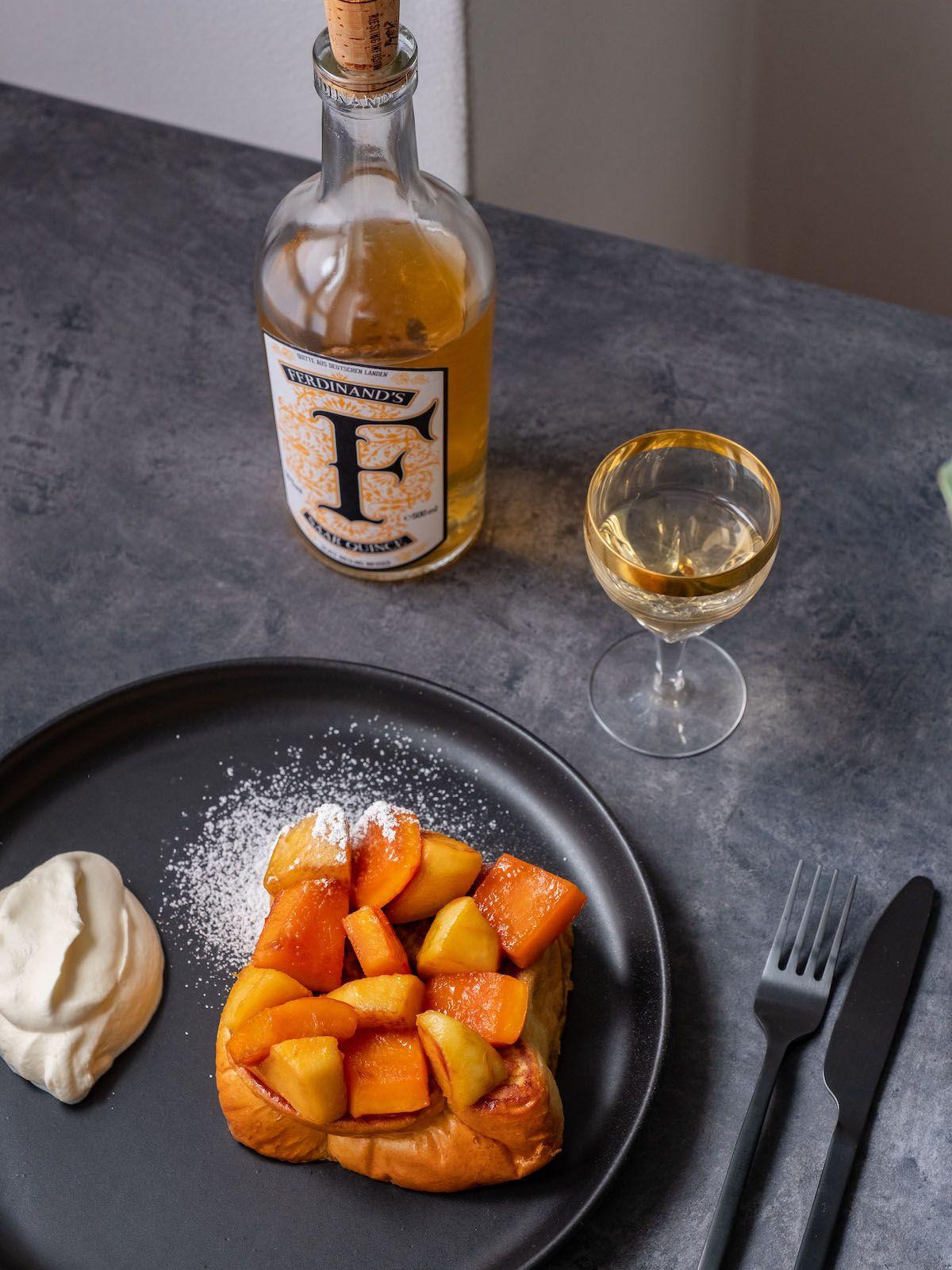About Fuel, Foodblog, Rezept, French Toast, Ferdinands Saar Quince, Quitte, Puderzucker, Dessert