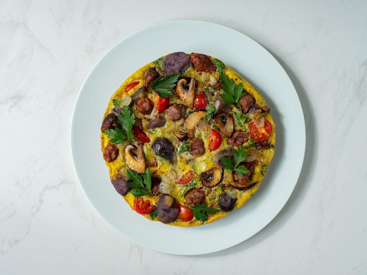 About Fuel, Foodblog, Rezept, Tortilla, Bratwurst, Petersilie, Kartoffeln, Pilze