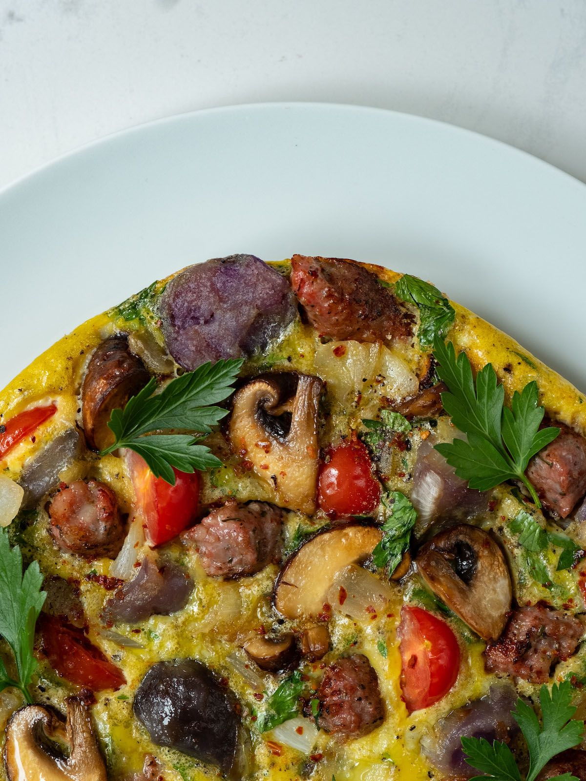 About Fuel, Foodblog, Rezept, Tortilla, Champignons, Bratwurst