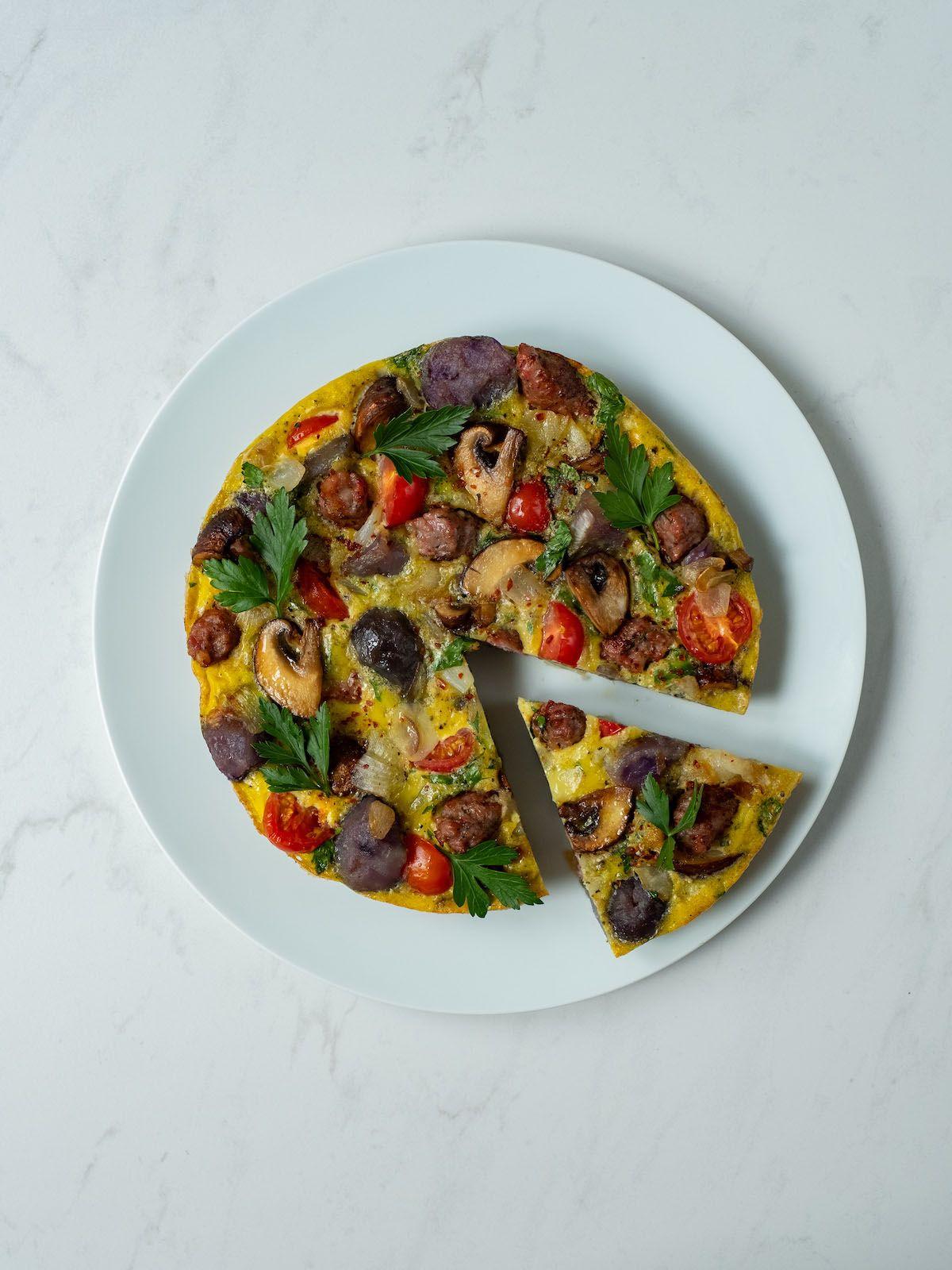 About Fuel, Foodblog, Rezept, Tortilla, Tomaten, Ei, Petersilie, Champignons