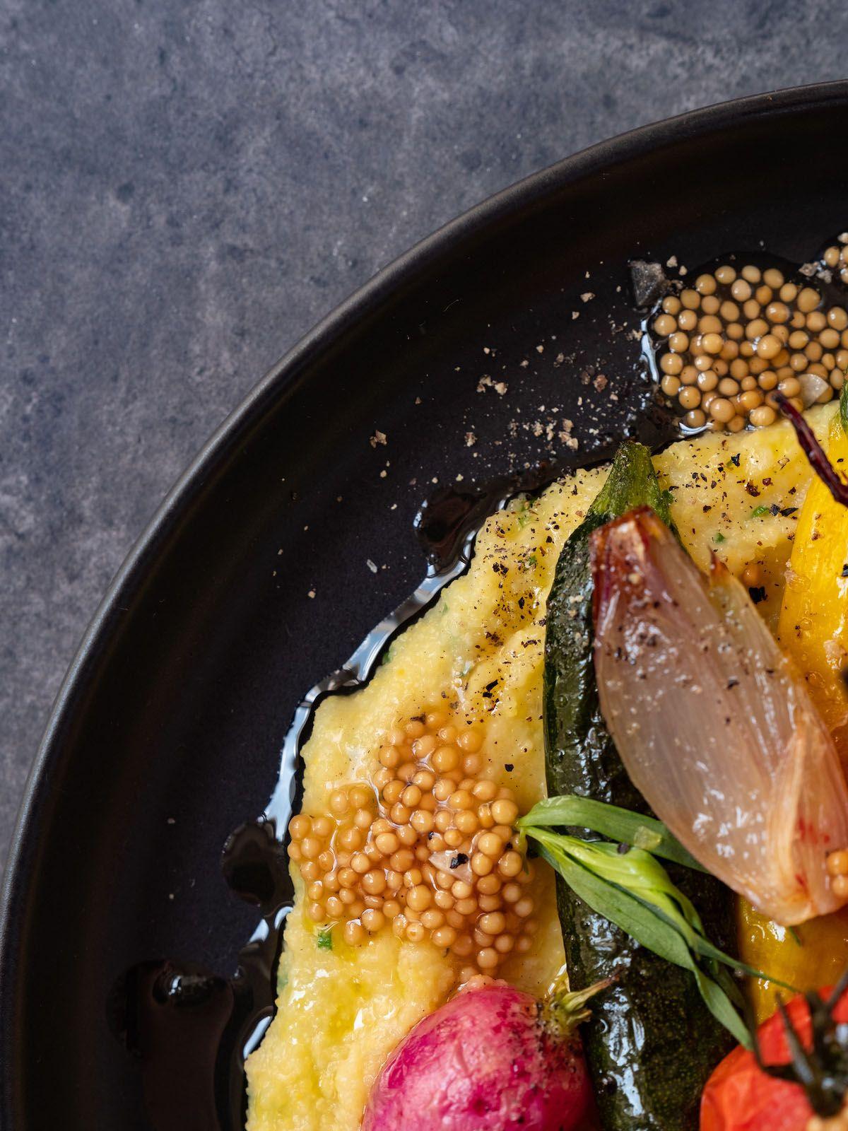 Rezept, Foodblog, Abput Fuel, Senfcaviar, Polenta, Senfsaat, Radieschen