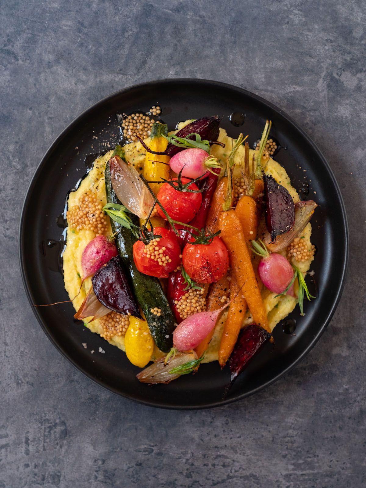 Rezept, Foodblog, Abput Fuel, Senfcaviar, Sommergemüse, Senfsaat, Polenta