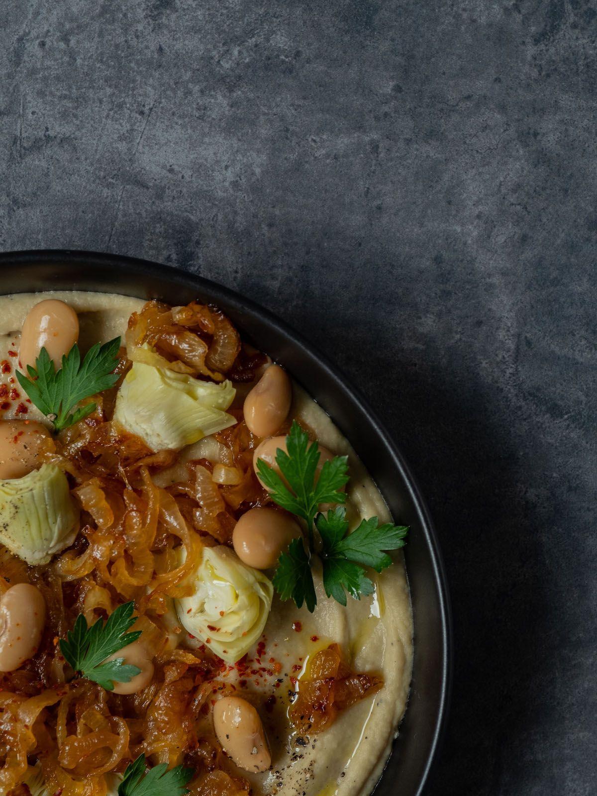foodblpog, about fuel, rezept, Weiße Bohnen artischocken Dip, Chiliflocken, Petersilie