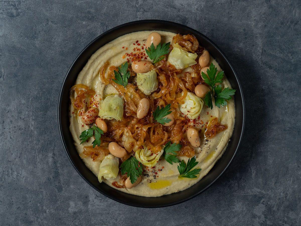 foodblpog, about fuel, rezept, Weiße Bohnen artischocken Dip, Olivenöl, Chiliflocken