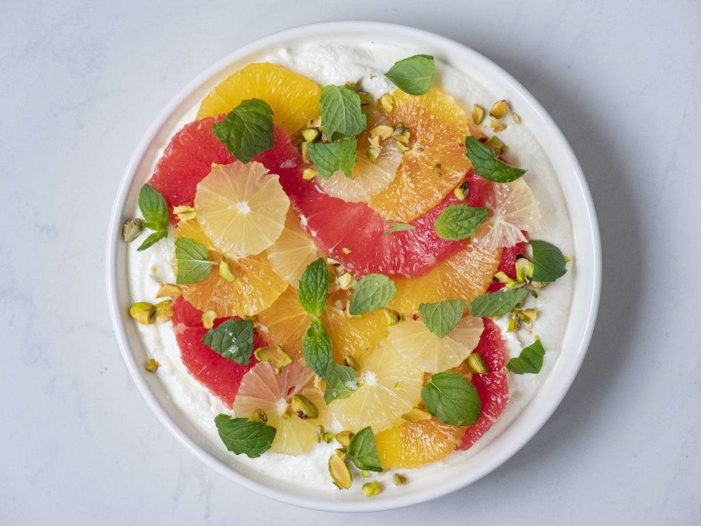 About Fuel, Foodblog, Pfeffi Berlin, Minze, Ricotta, Pistazien, Orange, Zitrone, Pink Grapefruit, Dessert