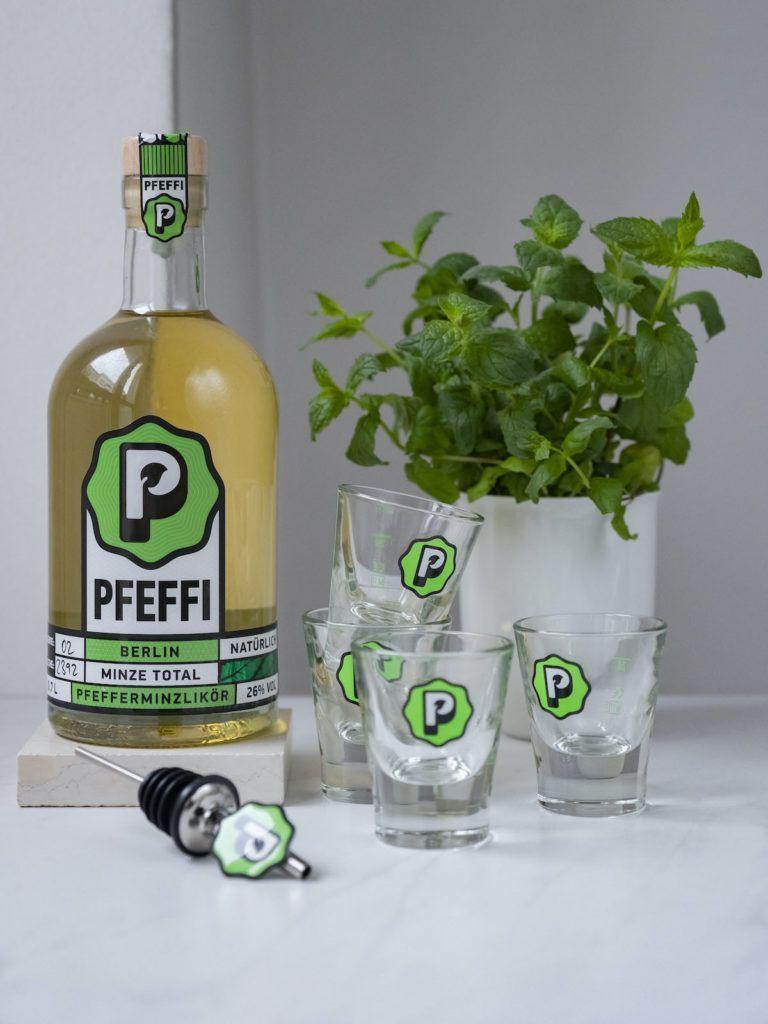 About Fuel, Foodblog, Pfeffi Berlin, Verlosung, Shot Gläser, Minze, Likör