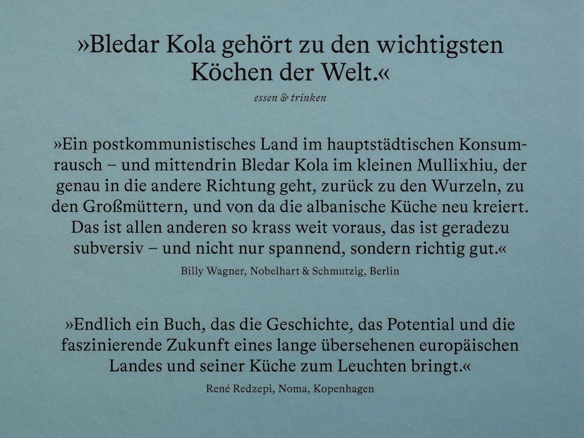 Leckerbissen About Fuel Foodblog Bledar Kola Kochbuch, René Redzepi, Billy Wagner