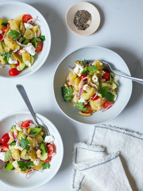 About Fuel, Foodblog, Rezept, Kartoffelsalat, Hellas, vegetarisch