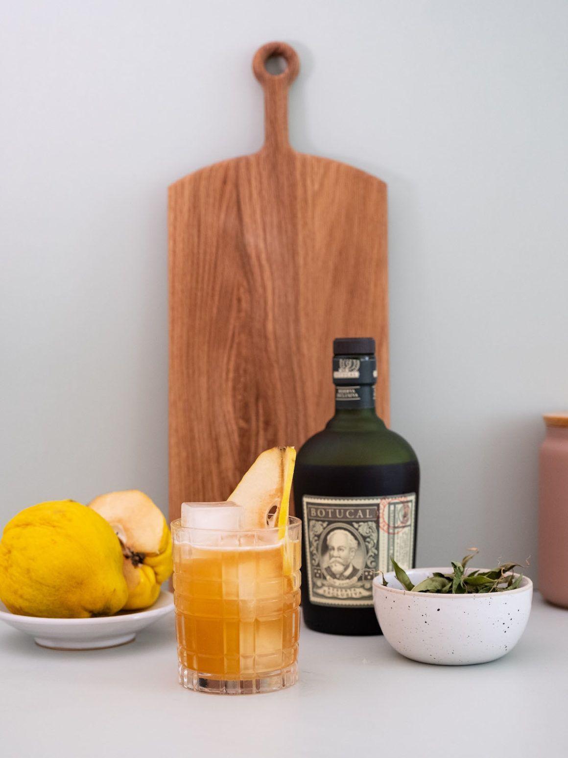 Foodblog, Drink, Botucal, Verbene, Zitrone, Quitte, Sour
