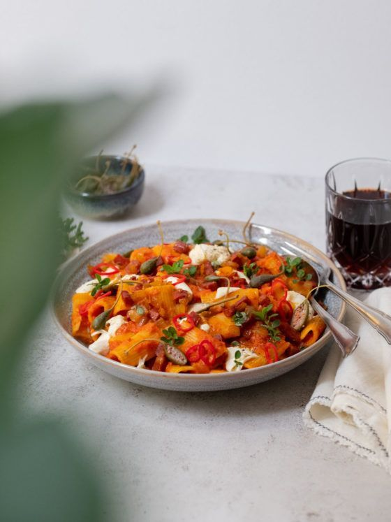 Foodblog, Rezept, Pasta, About Fuel, Nudeln, Rigatoni, Paprikasoße, Mozzarella