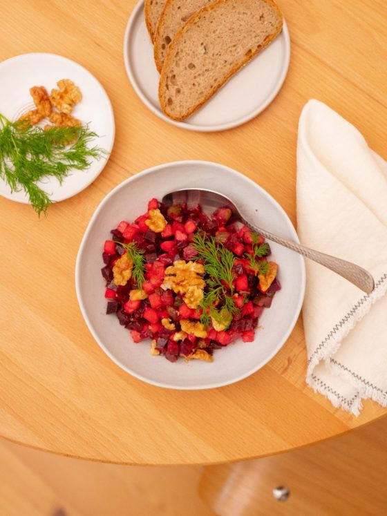 Foodblog, About Fuel, Salat, Vegan, Vorspeise, Rote Bete, Apfel, Dill