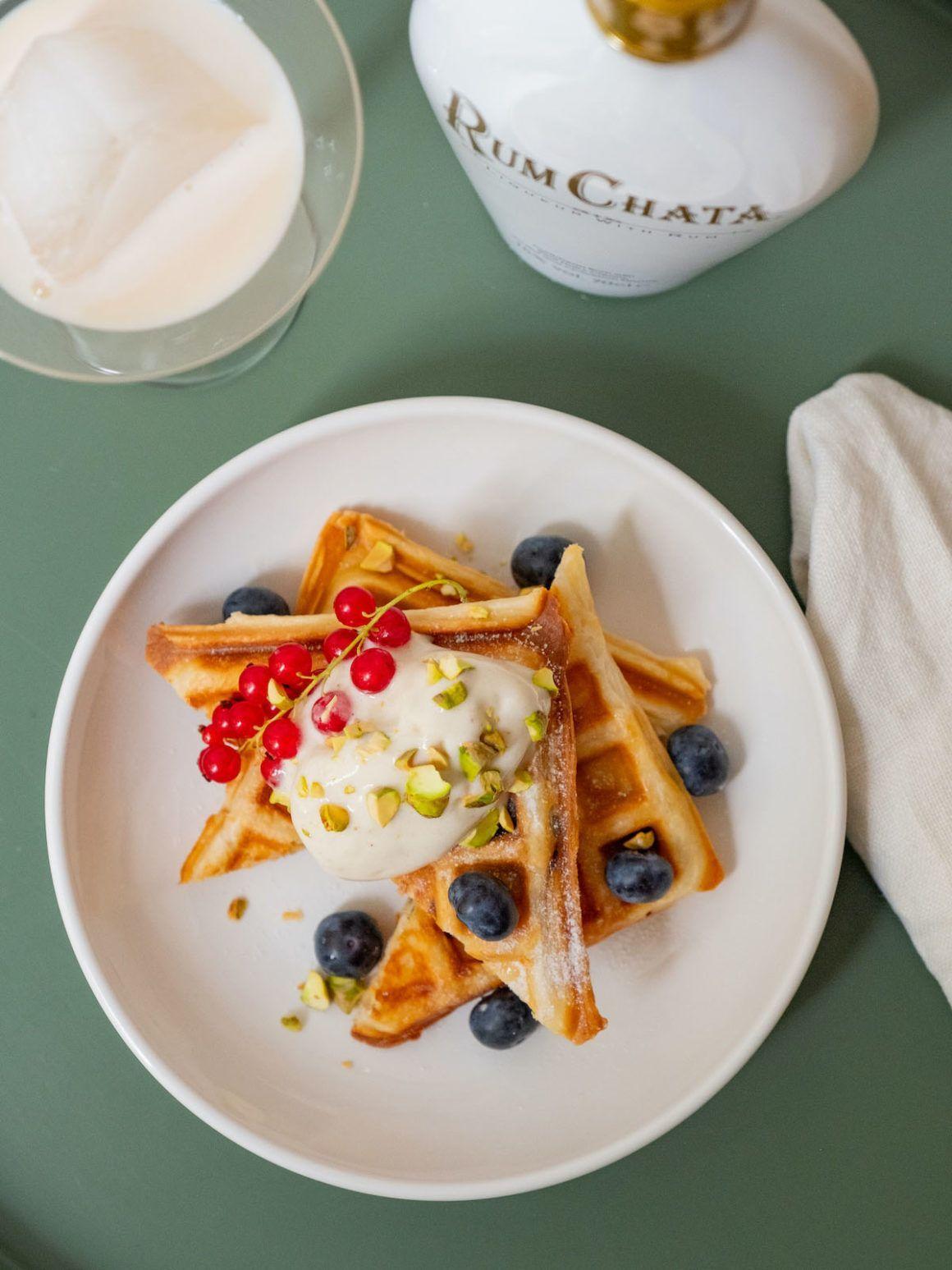 Foodblog, Rum Chata, About Fuel, Likör, Waffeln, Blätterteigwaffeln, Beeren